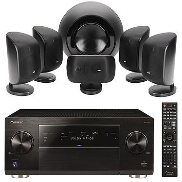 Pioneer SC-LX88-K Noir + B&W MT-60 Noir Ampli-tuner Home Cinéma 9.2 Ultra HD 4K Upscaling, Wi-Fi, Bluetooth, AirPlay et DLNA avec 8 entrées HDMI 2.0, Dolby Atmos et DAC USB externe + Pack 5.1