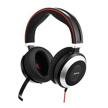 Jabra Evolve 80 MS Stéréo Micro-casque filaire stéréo optimisé Lync pour softphones VoIP, mobiles et tablettes