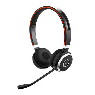 Jabra Evolve 65 UC Stéréo Micro-casque sans fil Bluetooth stéréo équipé d'un adaptateur Jabra Link 360 USB pour softphones VoIP, mobiles et tablettes