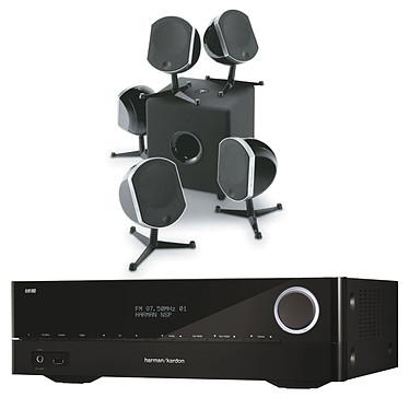 Harman Kardon AVR 171 + Focal Bird Pack 5.1 Noir & Cub3 Amplificateur Home Cinema 3D Ready 7.2 - 7 x 100 W DLNA Bluetooth HDMI + Enceintes 5.1