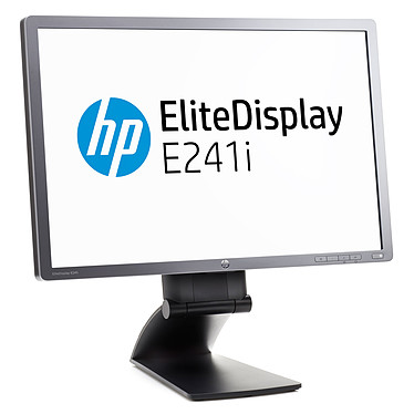 "HP 24"" LED - EliteDisplay E241i (F0W81AT) 1920 x 1200 pixels - 8 ms - Format large 16/10 - Dalle IPS - DisplayPort - Hub USB -  Noir"