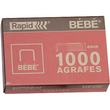 Rapid Agrafes bebe 8/4 cuivrées x1000 Boite de 1000 agrafes Bébé 8/4 mm cuivrées