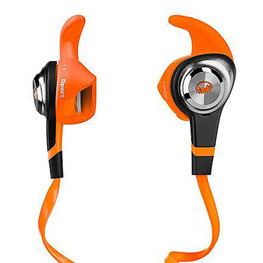 Monster iSport Strive Orange  Écouteurs intra-auriculaires sportifs lavables avec télécommande et micro