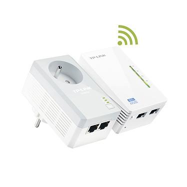 TP-LINK TL-WPA4225KIT Adaptateur CPL AV 600 Mbps avec prise électrique + 1 adaptateurs CPL Wi-Fi N 300 Mbps 2 ports