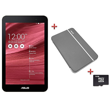 "ASUS MeMo Pad HD 7"" Rouge ME176CX-1C049A Tablette Internet - Intel Atom Z3745 Quad-Core 1 Go eMMC 8 Go 7"" LED Tactile IPS Wi-Fi N/Bluetooth Webcam Android 4.4"