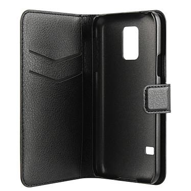 xqisit Etui Wallet Galaxy S5 Mini Noir Etui Folio Porte-feuille pour Galaxy S5 Mini