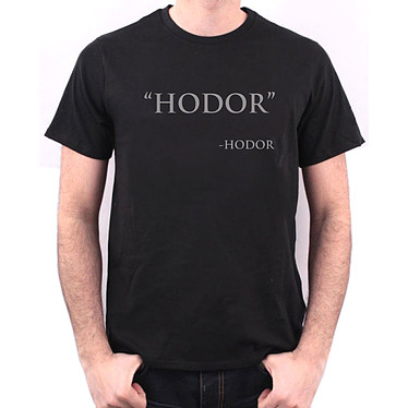 """T-Shirt """"Hodor""""  T-Shirt Game of Thrones """"Hodor"""" - Taille L"""