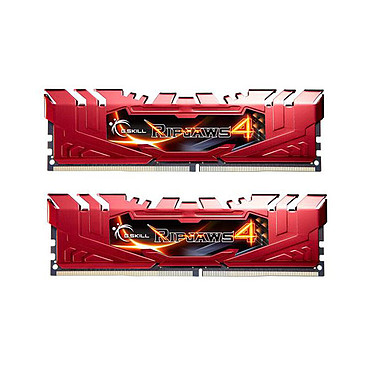 G.Skill RipJaws 4 Series Rouge 8 Go (2x 4 Go) DDR4 2133 MHz CL15 Kit Dual Channel 2 barrettes de RAM DDR4 PC4-17000 - F4-2133C15D-8GRR