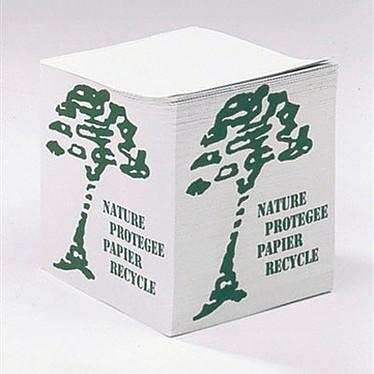 Bloc-Cube Blanc Recyclé Bloc cube papier blanc recyclé 80g