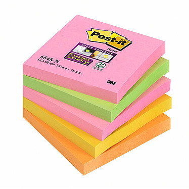 "Post-it Bloc ""Super Sticky"" 76 x 76 mm Capetown x 5"