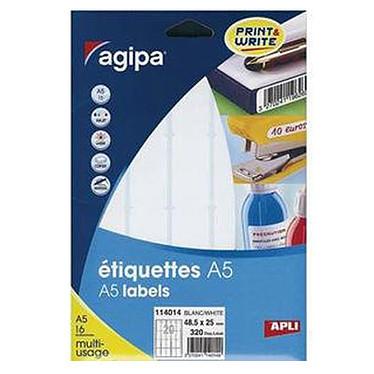 Agipa Etiquettes de bureau multi-usages A5 - 1152 par étui