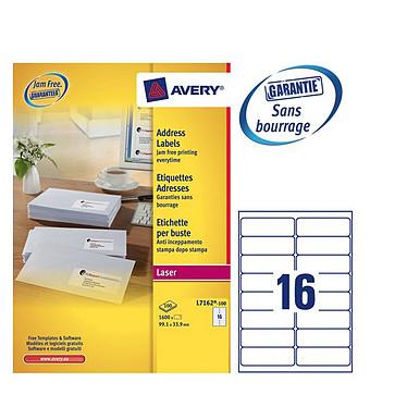 Avery Etiquettes blanches laser - boite de 1600 étiquettes