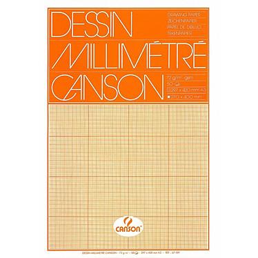 Canson Bloc de papier dessin millimétré 50 feuilles 29,7x42 72g Canson Bloc de papier dessin millimétré 50 feuilles 29,7x42 72g