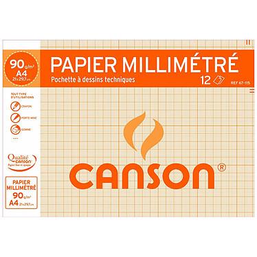 Canson Papel de dibujo gráfico 12 hojas A4 90g Canson Papel de dibujo gráfico 12 hojas A4 90g