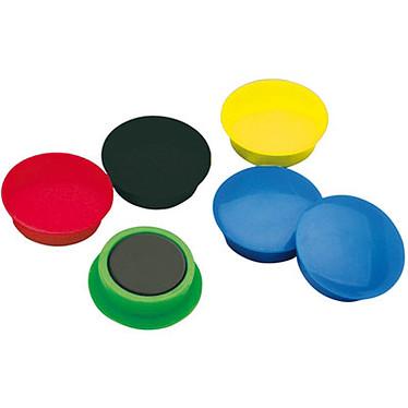 10 aimants 15 mm Coloris Assortis