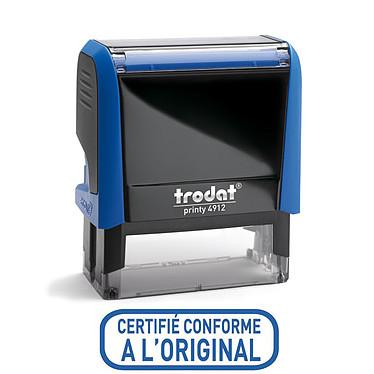 """Trodat Timbre Xprint """"Certifié conforme"""" bleu Timbre formule """"Certifié conforme"""" Xprint à encrage automatique"""