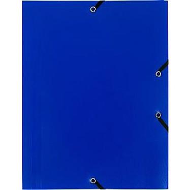 Chemise à élastiques 3 rabats en polypropylène Bleu