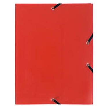 Chemise à élastiques 3 rabats en polypropylène Rouge