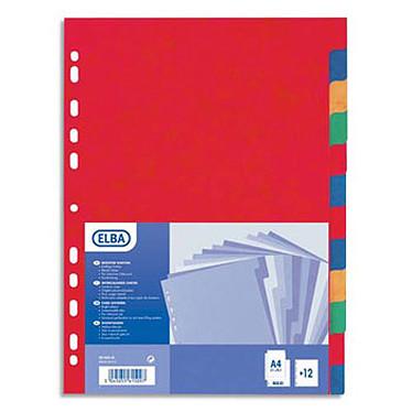 Elba Intercalaires Format A4 12 touches Carte 5/10E