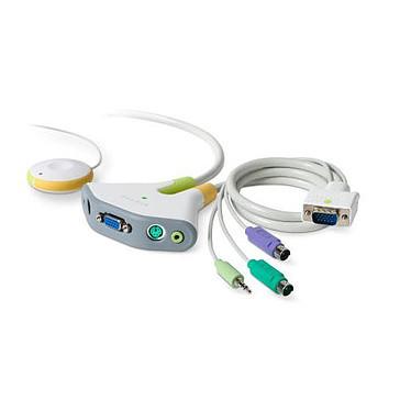 Belkin F1DG102P Switch KVM 2 ports PS/2 clavier/souris/VGA/Jack 3.5 mm