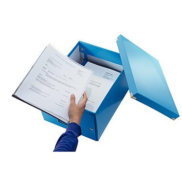 Opiniones sobre Leitz Caja de almacenamiento mediano Click & Store de 16,7 litros Azul