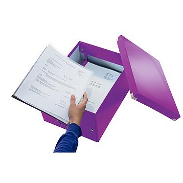 Avis Leitz Click & Store boite de rangement moyen format 16.7 litres Violet