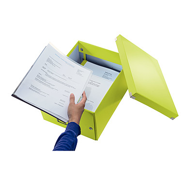 Opiniones sobre Leitz Caja de almacenamiento mediano Click & Store de 16,7 litros Verde
