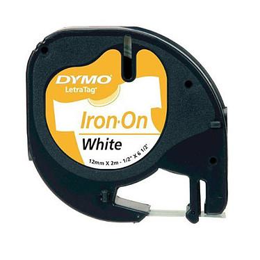 DYMO LetraTAG Transferencia textil negro/blanco Cinta de 12 mm x 2 m negro sobre blanco para etiquetadora LetraTAG