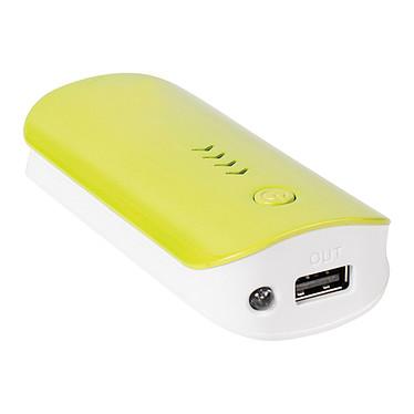 Power Bank 4400 mAh 5V 1A (jaune) avec lampe Chargeur de batterie autonome et universel (compatible tablette, smartphone...) avec lampe LED intégrée