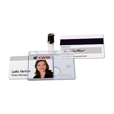 Avery Portaplacas para 1 tarjeta magnética 54x85mm x 25 Paquete de 25 tarjeteros con clip