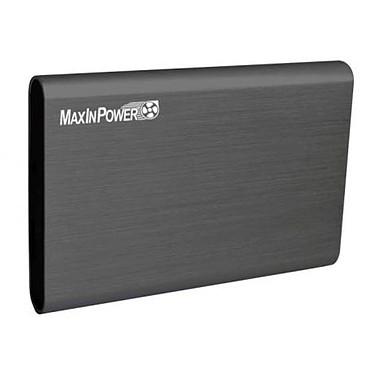 MaxInPower boitier externe USB 3.0 en aluminium brossé pour disque dur 2.5'' SATA III (coloris gris)