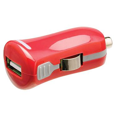 Mini chargeur USB 2.1A sur prise allume-cigare (rouge)