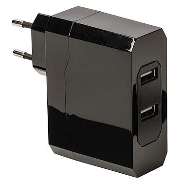 Chargeur double USB (2x 2.4A) sur prise secteur (coloris noir)