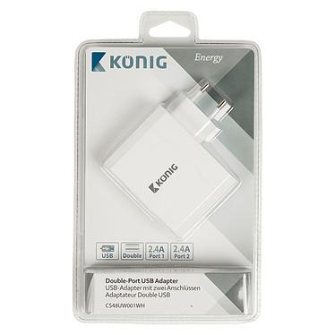 Acheter Chargeur double USB (2x 2.4A) sur prise secteur (coloris blanc)