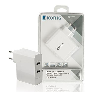 Avis Chargeur double USB (2x 2.4A) sur prise secteur (coloris blanc)