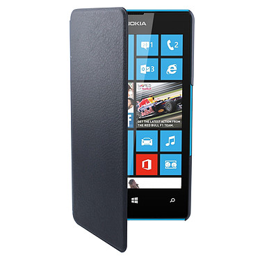Swiss Charger Etui Folio Slim Noir Lumia 435