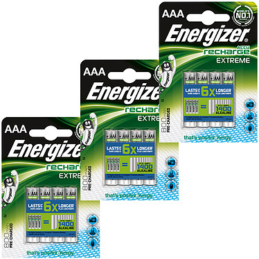 Energizer Accu Recharge Extreme AAA 800 mAh (12 unidades)