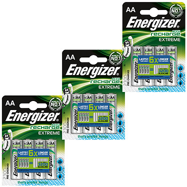 Energizer Accu Recharge Extreme AA 2300 mAh (par 12)