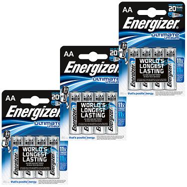 Energizer Ultimate Lithium AA (12 unidades) Pack de 12 pilas AA (LR6) de litio, alto rendimiento