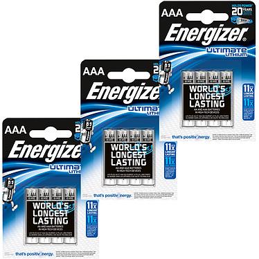 Energizer Ultimate Lithium AAA (12 unidades) Pack de 12 pilas AAA (LR03) de litio, alto rendimiento