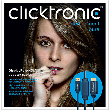 Clicktronic câble DisplayPort / HDMI (1 mètre) pas cher