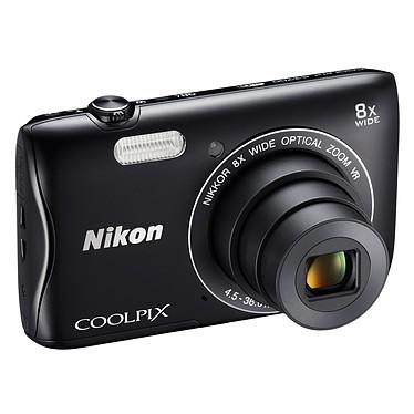 Nikon Coolpix S3700 Noir  Appareil photo 20.1 MP - Zoom grand-angle 8x - Vidéo HD - Wi-Fi et NFC