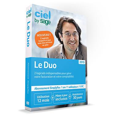 Ciel Duo 2015 (Abonnement d'1 an) Suite de logiciel de gestion et comptabilité (français, WINDOWS) avec abonnement d'un an