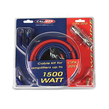 Caliber CPK20D Kit de câblage pour amplificateurs jusqu'à 1500W - 5m câble d'alimentation (20mm2)