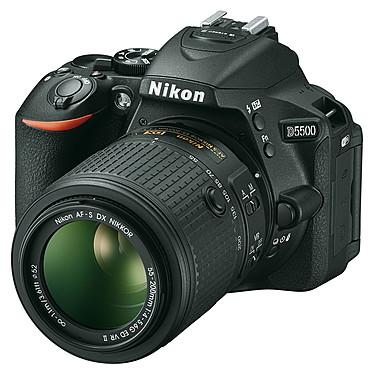 Nikon D5500 + AF-S DX NIKKOR 18-55mm + 55-200mm  Appareil photo 24.2 MP - Vidéo Full HD - Écran tactile - Wi-Fi + Objectif AF-S DX NIKKOR 18-55mm VRII + Téléobjectif AF-S DX NIKKOR 55-200mm VR