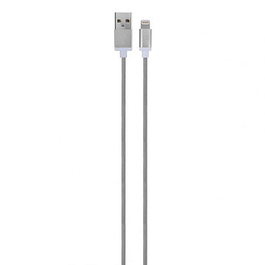 xqisit Charge and Sync USB/Lightning Cable Argent Câble USB vers Lightning