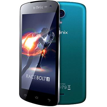 """Infinix Race Bolt 2 X454 Bleu Smartphone 4G-LTE Dual SIM avec écran tactile 4.5"""" sous Android 4.4"""