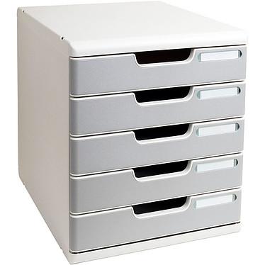 Exacompta Modulo 5 tiroirs Gris / granit Bloc de classement 5 tiroirs A4+ fermés coloris gris / granit