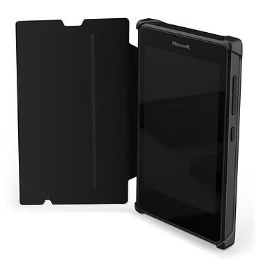 Avis Mozo Works With Nokia Flip Cover Noir pour Microsoft Lumia 435