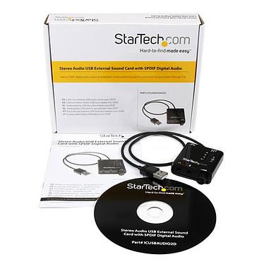 StarTech.com Carte son externe USB avec audio SPDIF numérique pas cher